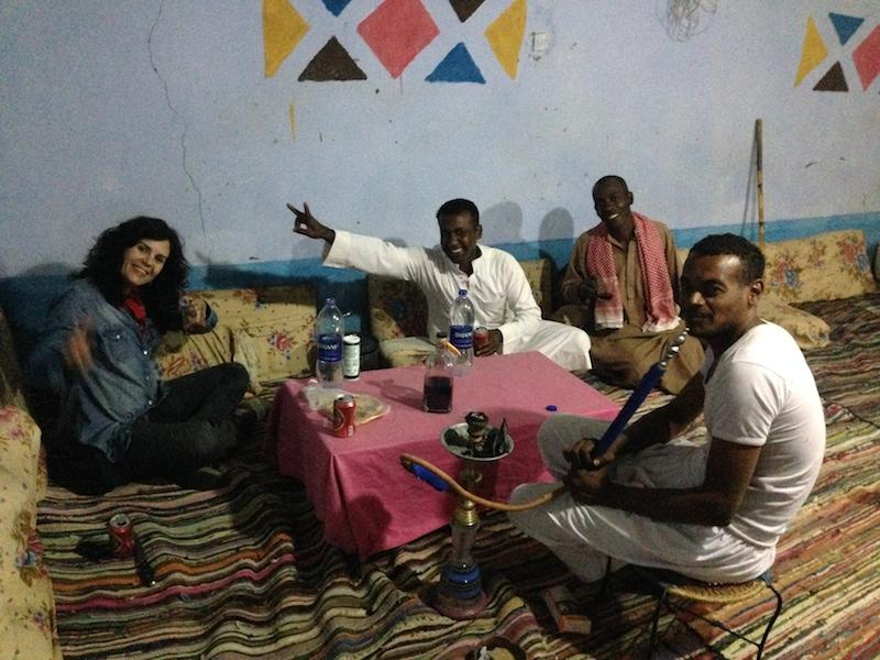 Con nuestros amigos Samy y Mo
