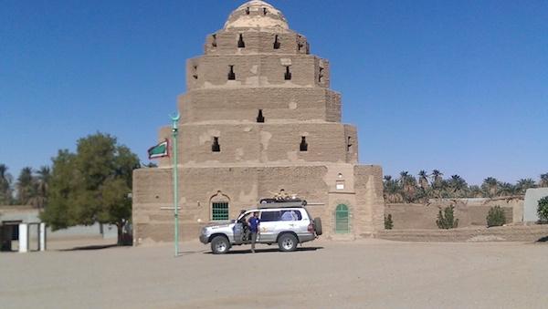 Contrucción en aldea nubia