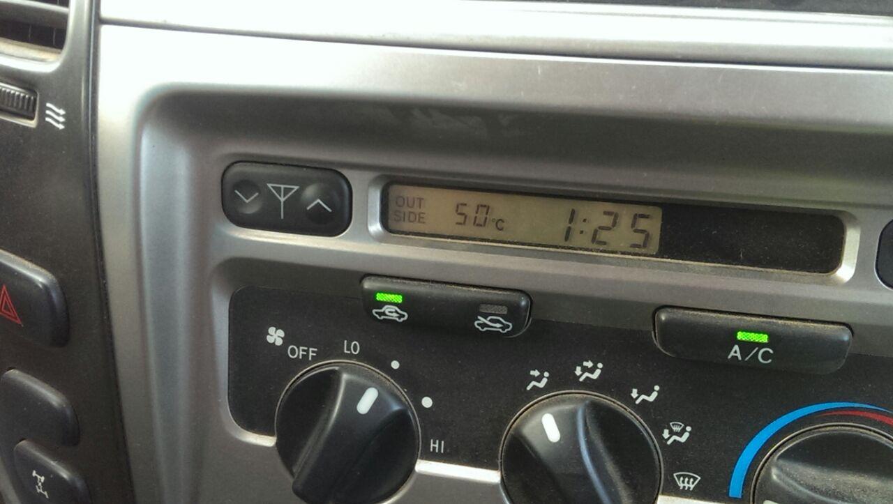 Nuestro termómetro marcando 50 grados