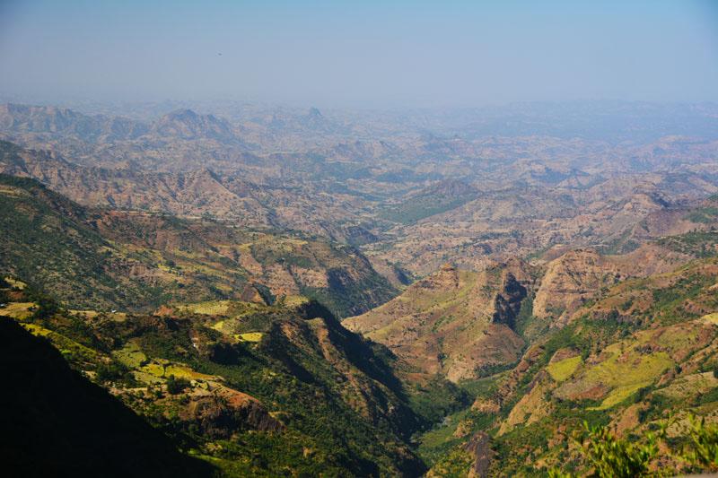 Paisaje de la carretera a Axum