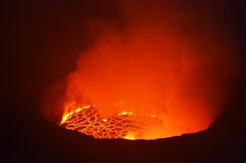 Entrañas del volcán Nyiragongo