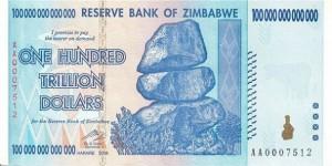 Billete de 100 trillones de dólares