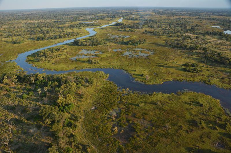 El Okavango desde los aires