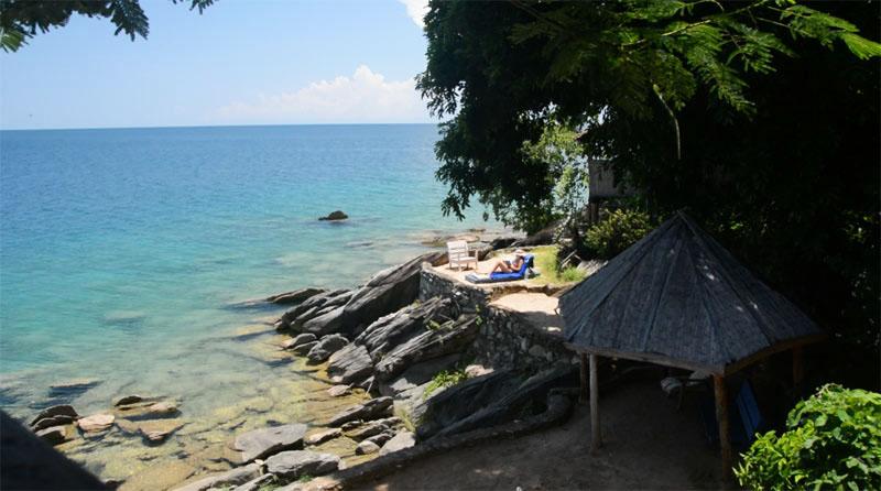 La playa y el chamizo de Koffran desde nuestra terraza