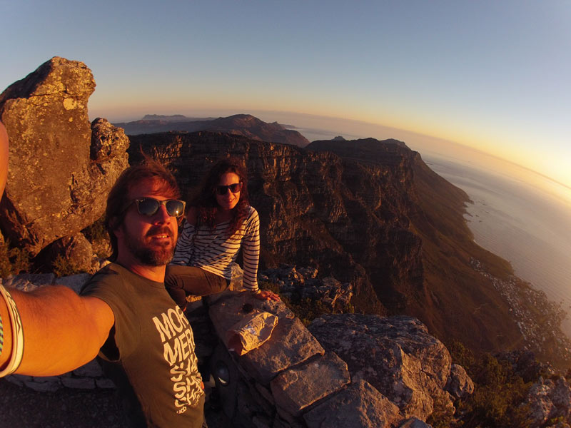 Atardecer desde lo alto de la Table Mountain