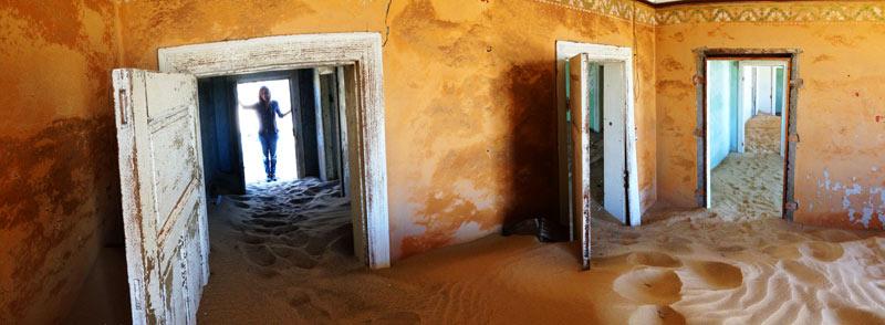 Fantasmagórica imagen en Kolmanskoop